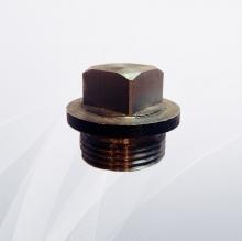 Заглушка стальная с наружной резьбой квадратная